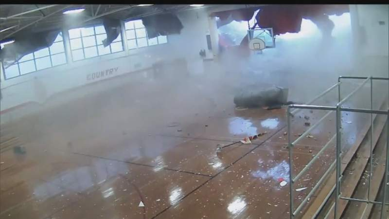 VIDEO: Roof collapses at North Carolina school