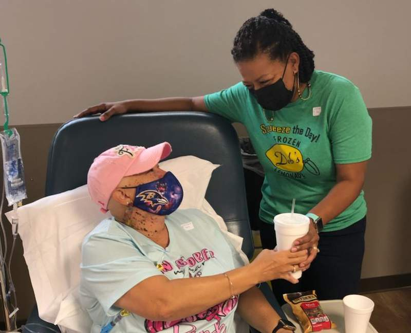 Deb's Frozen Lemonade surprised cancer patients with free lemonade Tuesday at Blue Ridge Cancer Care.