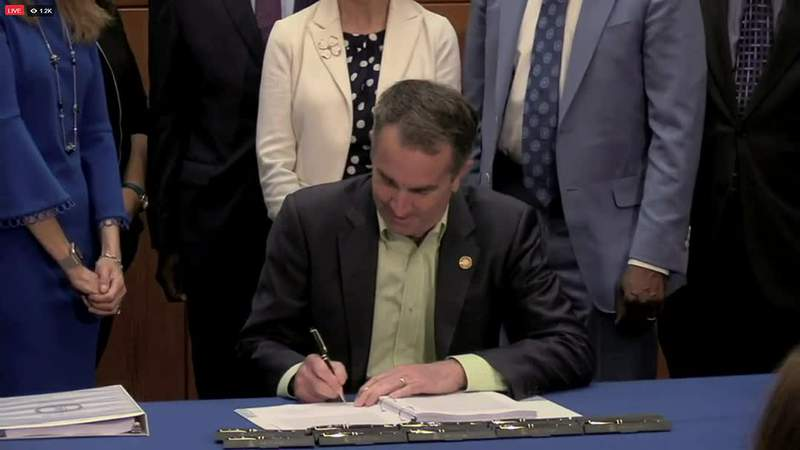 Gov. Ralph Northam signed a bill legalizing marijuana in Virginia at 2 p.m. on Wednesday.