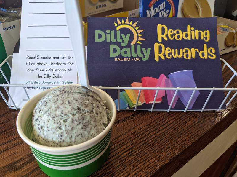 The Dilly Dally is giving kids a free scoop of ice cream for reading five books.