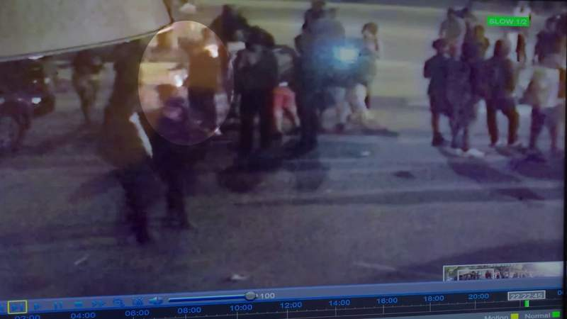 Surveillance video shows man throw explosive during Fifth and Federal rio