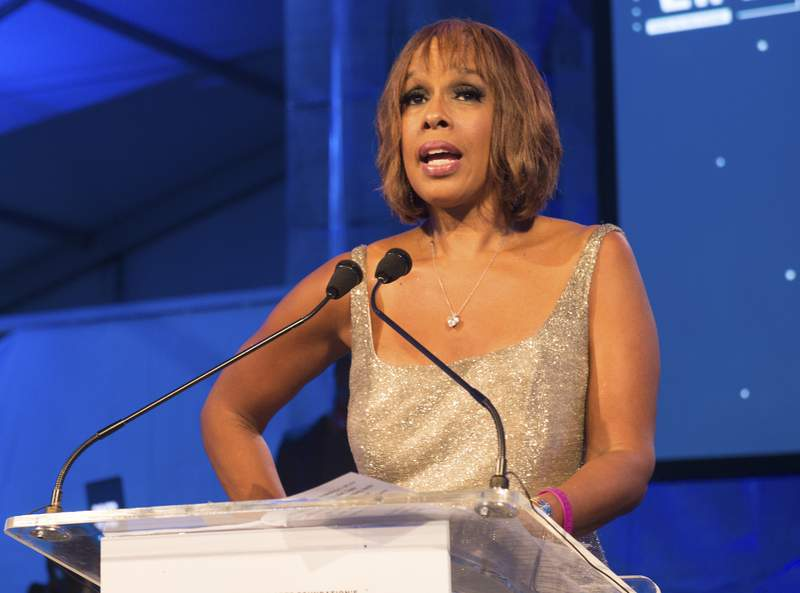 """FILE - This July 16, 2016 file photo shows """"CBS This Morning"""" host Gayle King speaking at the 2016 Art For Life Benefit in Water Mill, N.Y. In the wake of a social media backlash, King says she is embarrassed and angry with how the network promoted part of her interview with WNBA star Lisa Leslie that concerned the late Kobe Bryant. A video clip distributed on CBS News' social media accounts, taken from a wide-ranging CBS This Morning interview that aired Tuesday, Feb. 4, 2020, focused on Leslie addressing a sexual assault charge that had been brought against Bryant and dismissed. In the interview, King asked Leslie whether Bryant's legacy had been complicated by the assault case. Leslie said it hasn't, and called on the media to be more respectful of Bryant's memory. Bryant was killed in a helicopter crash on Jan. 26. (Photo by Scott Roth/Invision/AP, File)"""