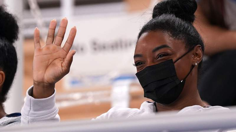 Simone Biles is back in action at the Tokyo Olympics on Tuesday, Aug. 3.