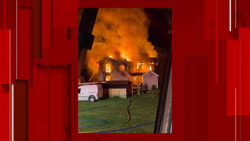 Crews respond to early morning fire in Botetourt County.
