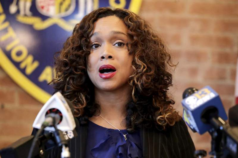 Baltimore State's Attorney Marilyn Mosby during a news conference in Maryland on Dec. 3, 2019. (Julio Cortez -- AP File)