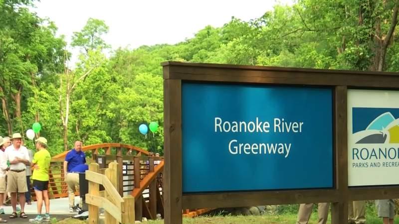 Barnhardt Creek Bridge connects Roanoke River Greenway in Salem and Roanoke