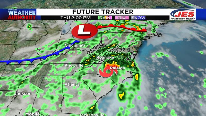Elsa and a front to bring rain, wind and storms Thursday