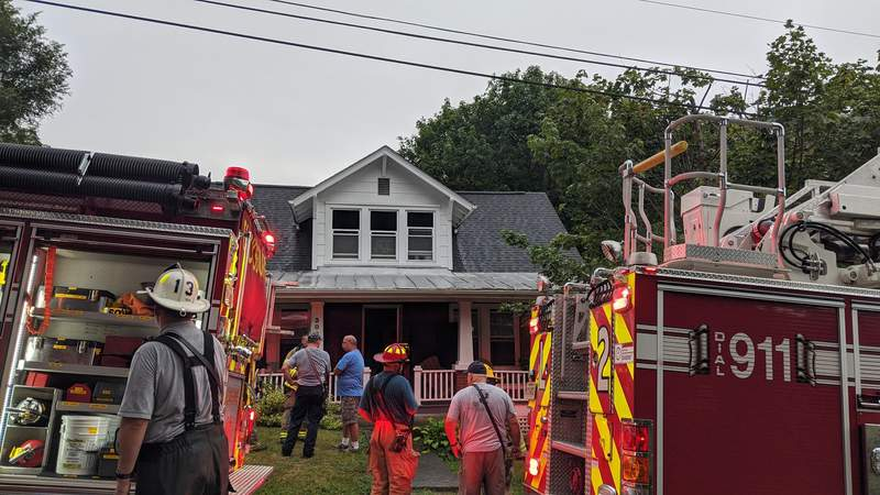 Several people and pets are safe after a house fire in Blacksburg on Thursday evening.