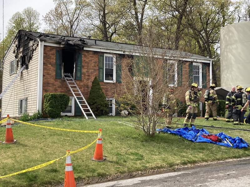 House fire on Creekwood Drive in Roanoke County