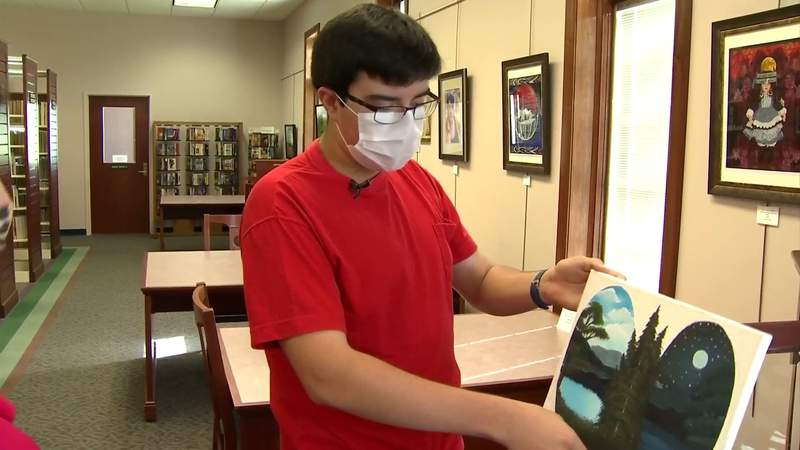 Bedford County high school student learns how to paint from Bob Ross
