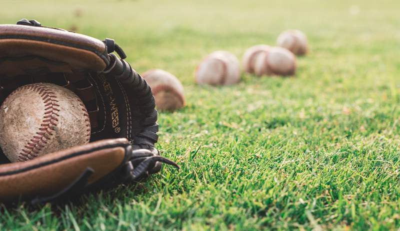 Baseballs and glove.