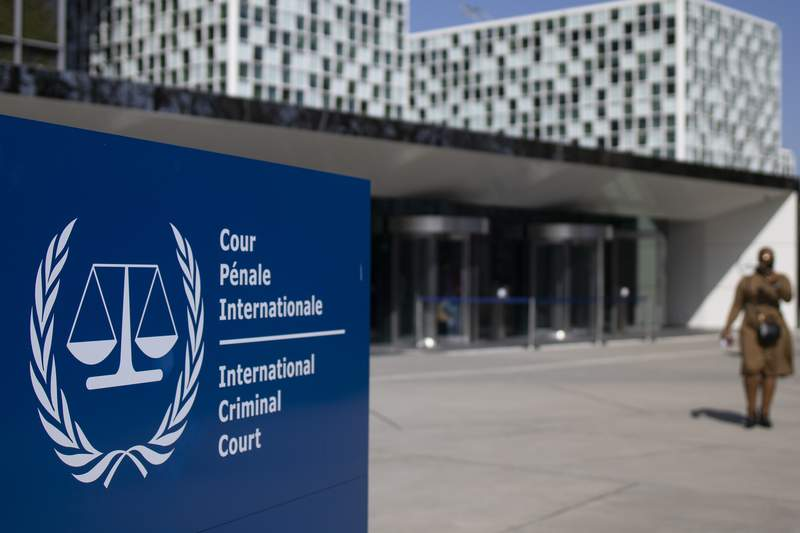 FILE - This Wednesday, March 31, 2021 file photo shows the exterior view of the International Criminal Court in The Hague, Netherlands. A group of lawyers presented a dossier of evidence to prosecutors at the International Criminal Court on Thursday June 10, 2021, that they say establishes jurisdiction for the global tribunal to investigate allegations Chinese authorities are involved in grave crimes targeting Uyghurs, a largely Muslim ethnic group. (AP Photo/Peter Dejong, File)