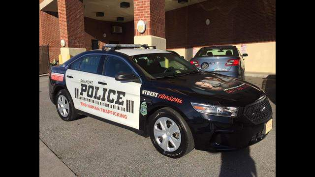 A Roanoke Police patrol car has a new look hoping to spur conversation about human trafficking.