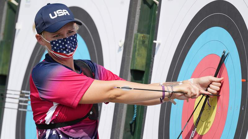 2016 Olympian Mackenzie Brown shot a personal best score in the Tokyo Olympics archery ranking round.