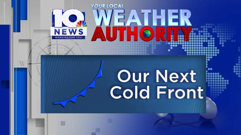 Tracking our next cold front - arrives Wednesday, 4/14/2021