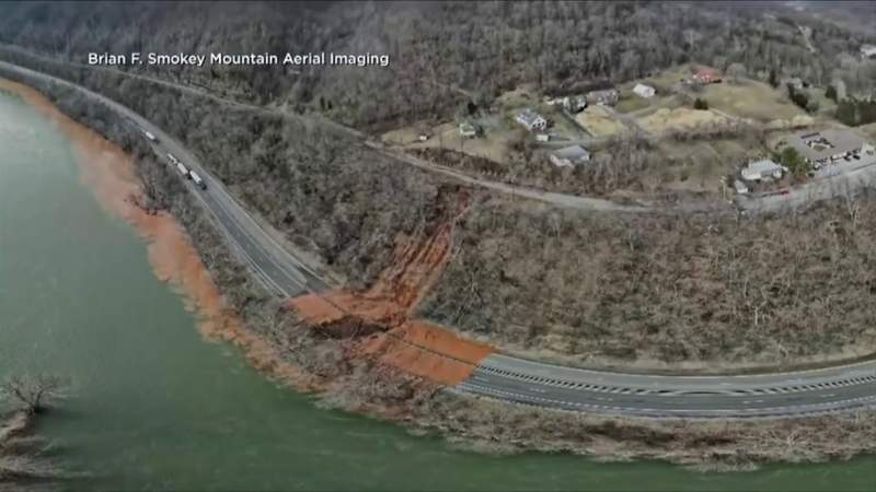 Work continues to repair US 460 after mudslide