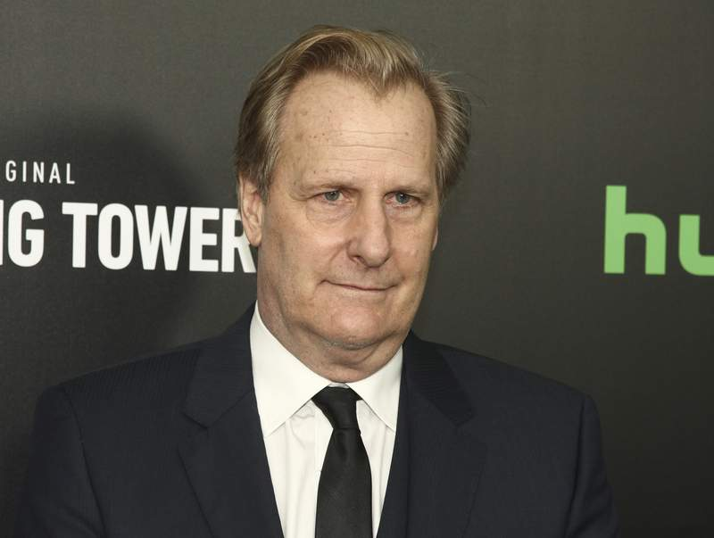 """FILE - Jeff Daniels attends the premiere of Hulu's limited drama series """"The Looming Tower"""" in New York on Feb. 15, 2018. Daniels will narrate a new documentary that tells the story of the Sept. 11, 2001 terrorist attacks through the eyes of then-President George W. Bush's team. Apple+ and the BBC will collaborate on the project, which will debut in September near the 20th anniversary of the terrorist attacks. (Photo by Andy Kropa/Invision/AP, File)"""