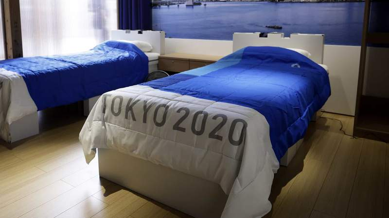 The Tokyo Games' famous cardboard beds.