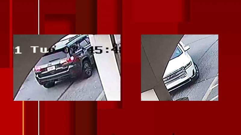 Vehicles pictured are suspect vehicle images provided by police