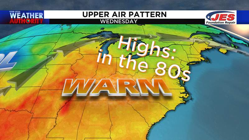 Upper air pattern by mid-to-late week