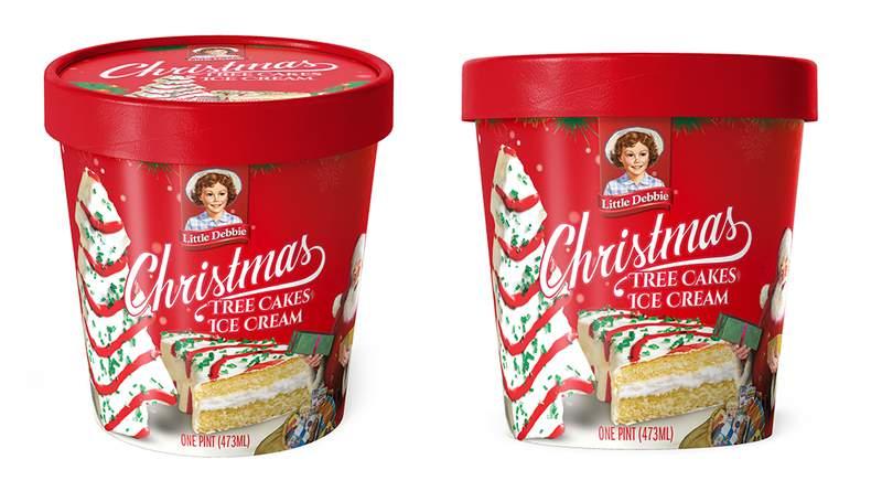 Little Debbies Christmas Tree Cakes Ice Cream