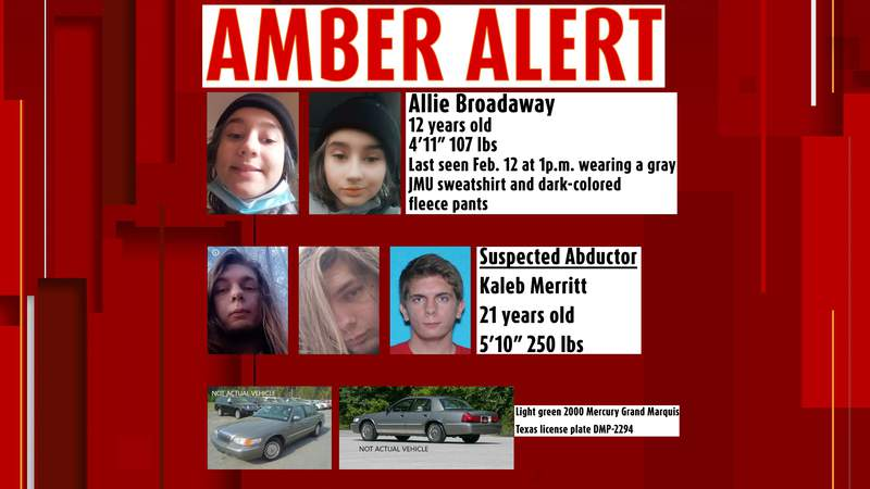 Amber Alert information for Allie Broadaway