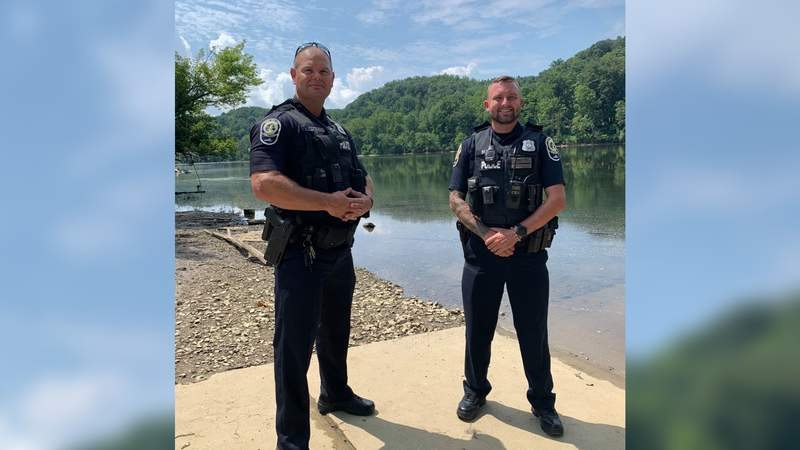 Two Radford police officers are being recognized for their lifesaving efforts on the New River after they responded to a tuber in distress call on Aug. 2.