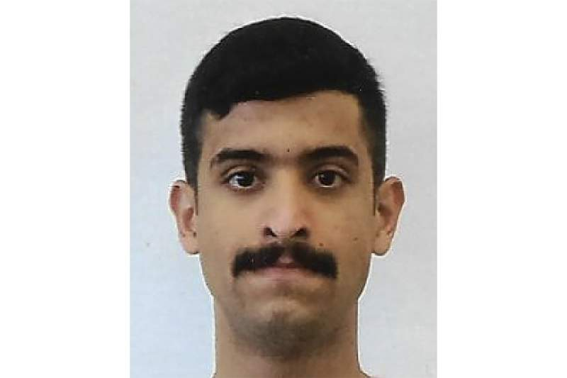 This undated photo provided by the FBI shows Mohammed Alshamrani. Victims of a 2019 shooting at a Florida military base and their families are suing Saudi Arabia, claiming the kingdom knew the gunmen had been radicalized and could have prevented the killings.  The suit, filed Monday, also claims that Saudi trainees knew in advance about the plans for the shooting but did nothing to stop it. The suit, filed Monday, centers on the Dec. 6, 2019 shooting at Naval Air Station Pensacola in which Mohammed Saeed Alshamrani shot and killed three U.S. sailors. (FBI via AP)