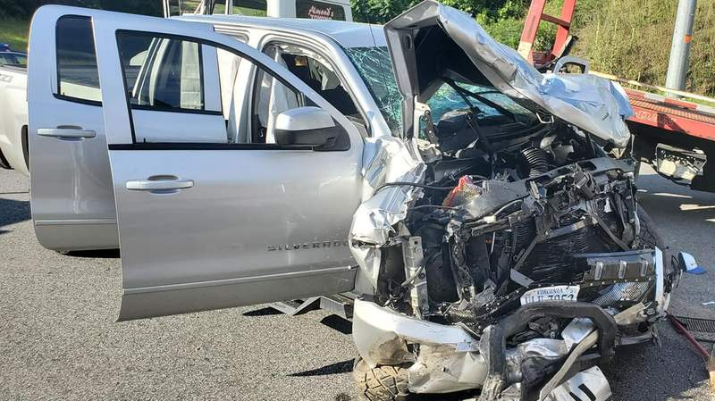 Virginia State Police is investigating a police chase in Amherst County that ended in a multi-vehicle crash that sent three people to the hospital.