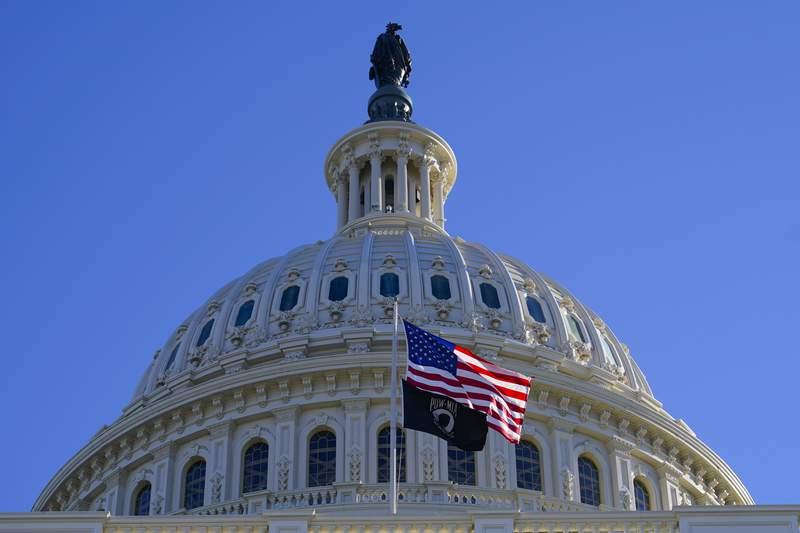 The U.S. Capitol as seen on Tuesday, Dec. 29, 2020, in Washington. (AP Photo/Pablo Martinez Monsivais)