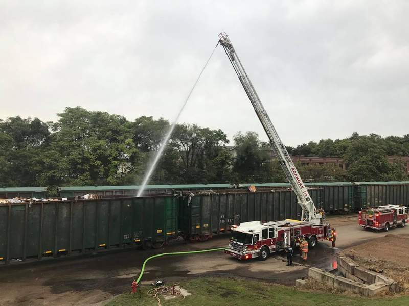 At 8:11am, Roanoke Fire-EMS was dispatched to the 1000 block of Hollins Rd NE for a fire. Units arrived to find light smoke coming from a rail car filled with trash. No injuries were reported. The cause of the fire is accidental.