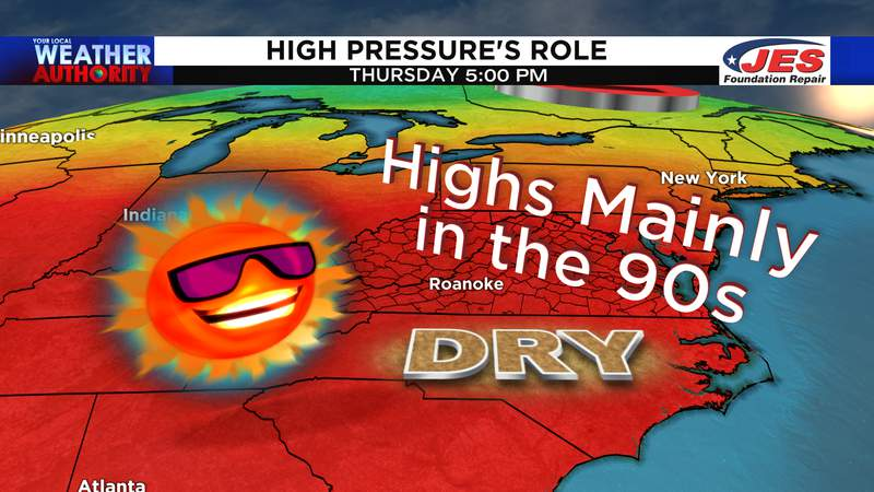 High heat likely by mid-week