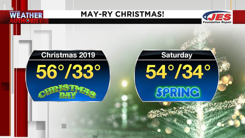 Saturday might be cooler than this past Christmas Day