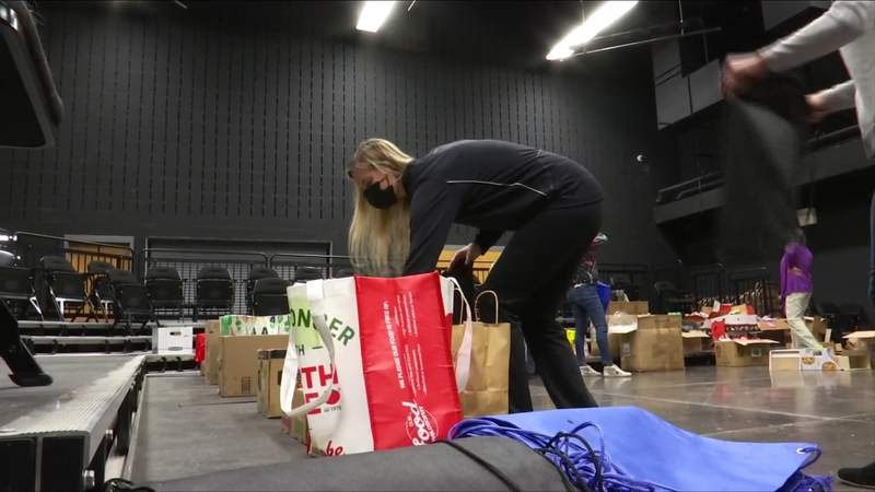 School makes care packages for homeless students