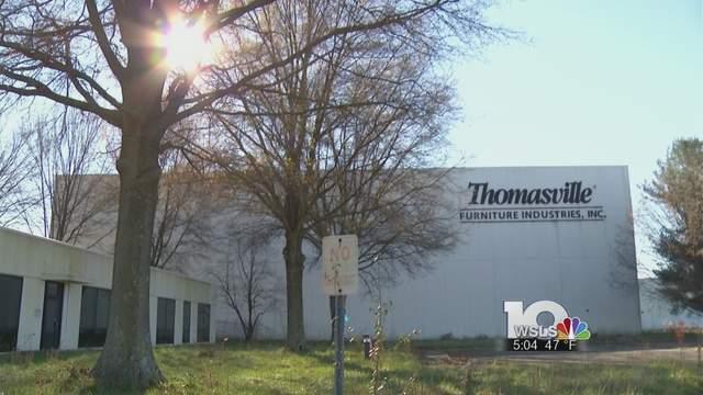 Vacant Thomasville Furniture Building, Thomasville Furniture Industries