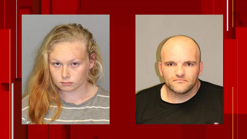 From left to right: Cheyenne Epling and Jerry Conley were arrested for allegedly breaking into a home while a family was at a funeral