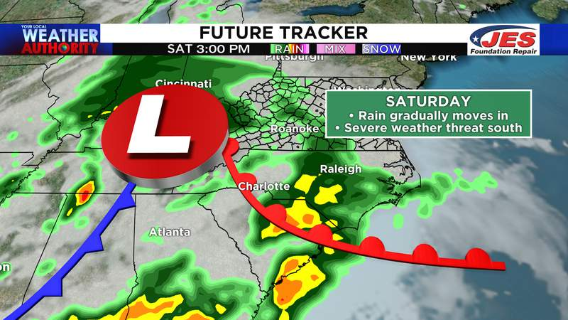 FutureTracker - Saturday afternoon in the Mid-Atlantic states