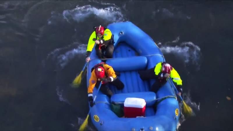 Search for man swept away in Roanoke River