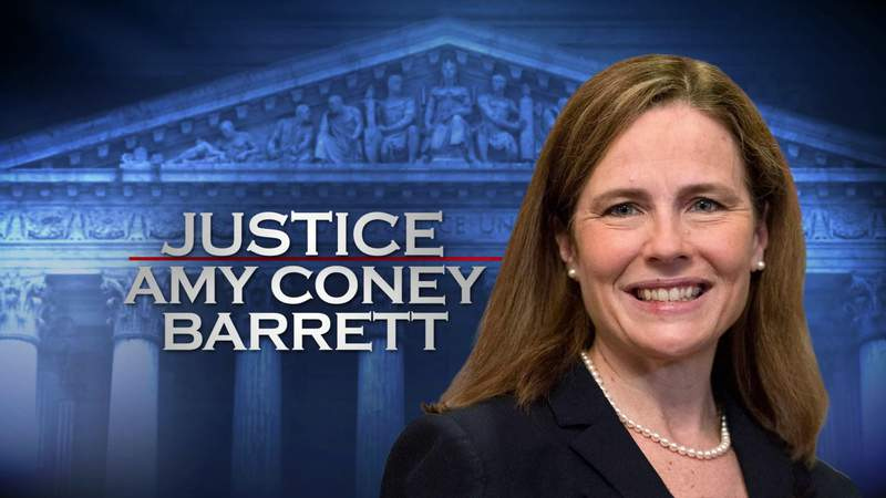 Elected officials are reacting to Amy Coney Barrett being sworn into the Supreme Court