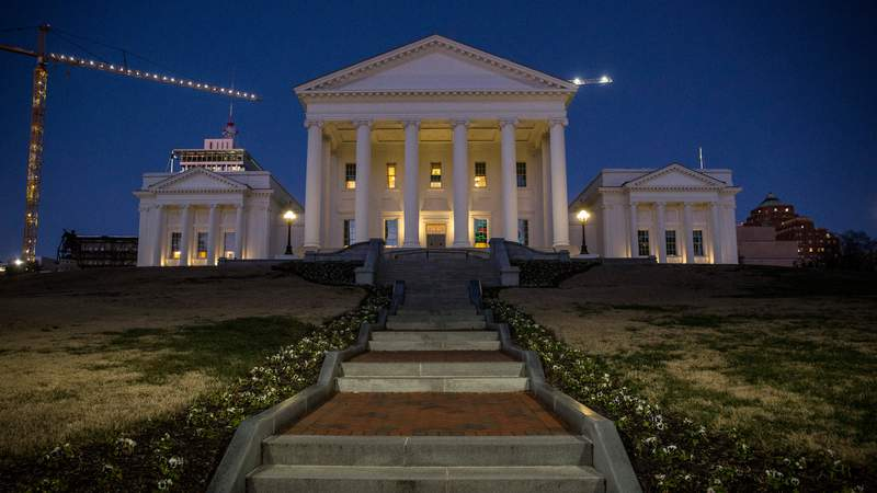 The Virginia State Capitol is pictured on January 8, 2020 in Richmond, Virginia (Photo by Zach Gibson/Getty Images)