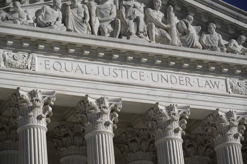 FILE - This Nov. 4, 2020 file photo shows the Supreme Court in Washington. (AP Photo/J. Scott Applewhite)