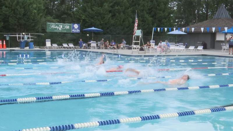 Swimmers helped raise money for the Tudor House, which will help provide mental health services in the Roanoke area.