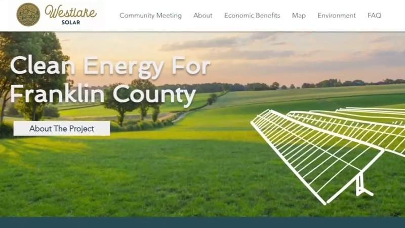 Franklin County solar farm proposal on hold as county irons out details