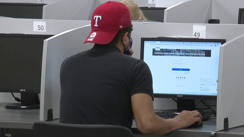 FILE - San Antonians react to Abbott opting out of federal supplemental unemployment program