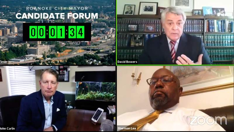 Roanoke's current mayor, Sherman Lea, and Roanoke's former mayor, David Bowers, met on a virtual stage ahead of the November 3 election.