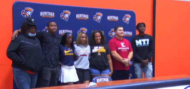 Heritage had 7 commit to play sports at the next level