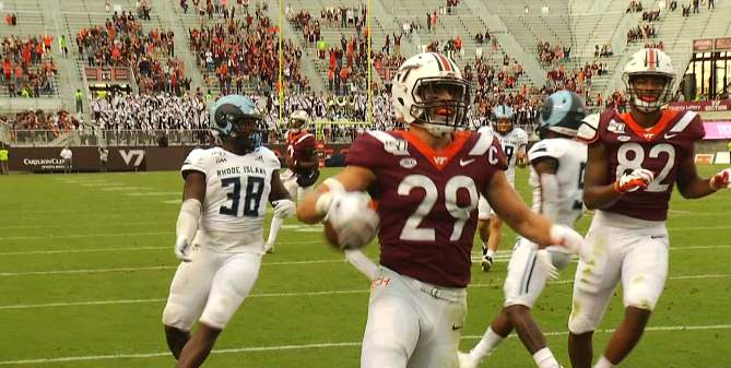 Tight end Dalton Keene is the top prospect out of Virginia Tech
