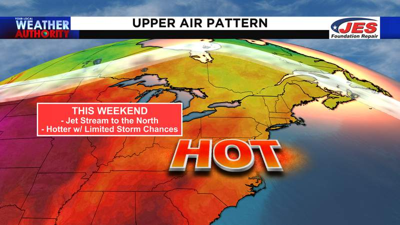 Upper level air pattern for this weekend