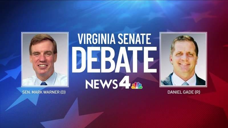 Complete Virginia Senate debate between Sen. Mark Warner and Daniel Gade