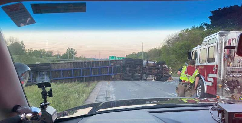 A tractor-trailer crash has closed US-29 South in Danville